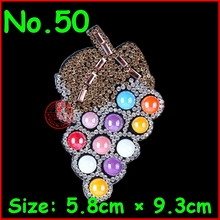 3 pcs/Lot Shiny Grapes pattern hotfix rhinestones heat transfer design iron on motifs patches Motifs Crystal Diy Accessories