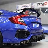 For Honda Civic 2016 2017 2018 Rear Wing Spoiler, Trunk Boot Wings carbon fiber Spoilers GT style