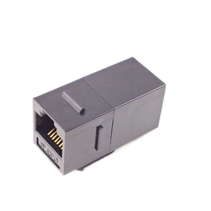 cat6 keystone jack inline coupler 8p8c female to female rj45 cable adapter  white black 8p8c inline
