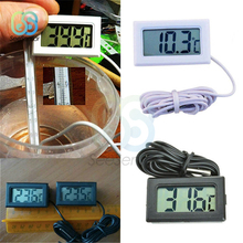 LCD Digital Thermometer Fridge Freezer Thermometer Thermograph for Refrigerator Temperature Meter -50~110 Degree Probe 1 Meter недорого