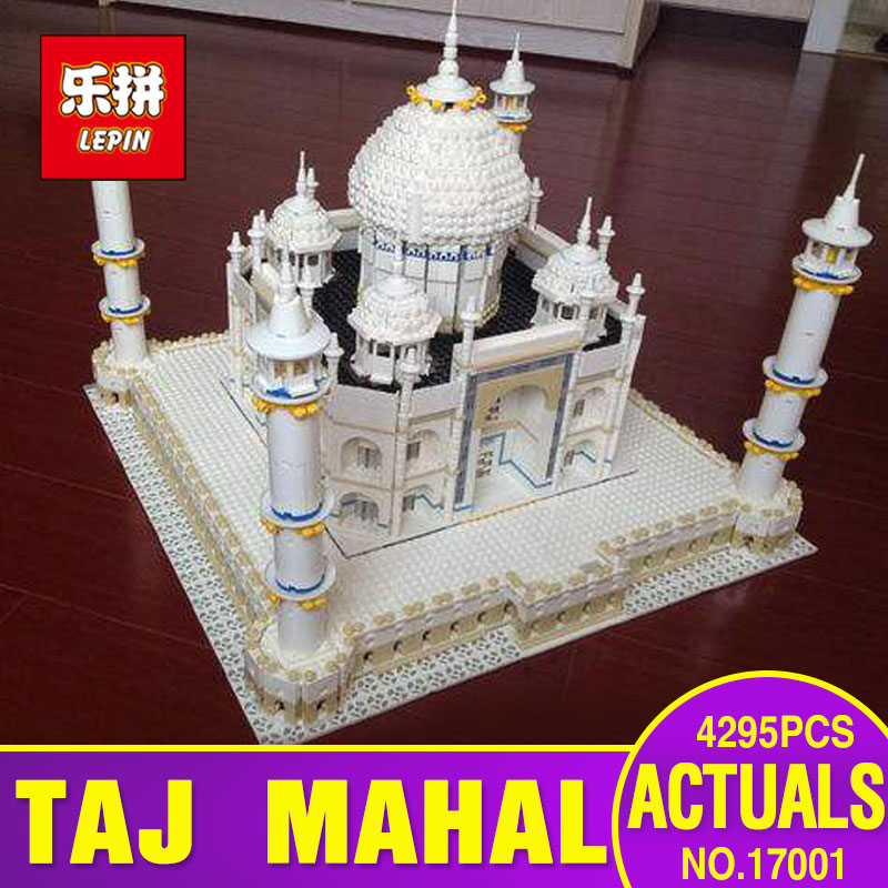 New LEPIN 17001 5952pcs The Tai Mahal Model Building Kits Brick Blocks Toys Compatible 10189 Children Educational Funny Gifts lepin17001 city street tai mahal model building blocks kids brick toys children christmas gift compatible 10189 educational toys