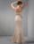 Cecelle 2016 Champanhe Longo Sereia Mãe Da Noiva Vestidos de Renda Frisado Fora Do Ombro da Mãe Elegante Formal Vestidos