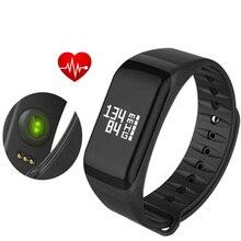 F1 Smart группа крови Давление Часы Смарт-часы браслет сердечного ритма Мониторы Smart Band Беспроводной Фитнес для iOS и Android