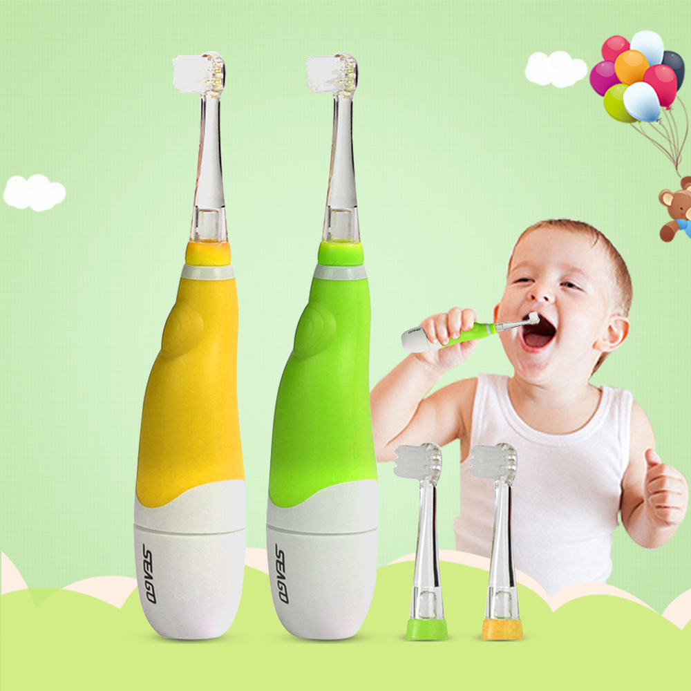 Professional Seago Children Sonic Electric Toothbrush Intelligent Vibration With LED Light Smart Reminder Tooth Brush Baby Kids