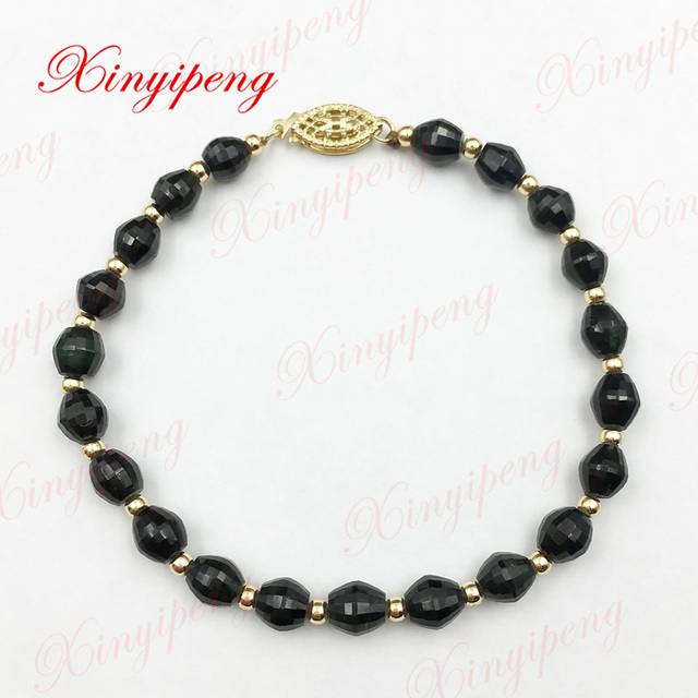 100% natural sapphire bracelet hand bunch of women Blue is contracted and generous