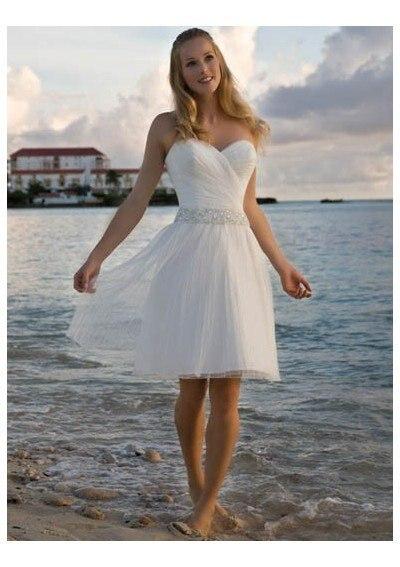 2012a Beach Casual Short Wedding Dress Lady S Wedding