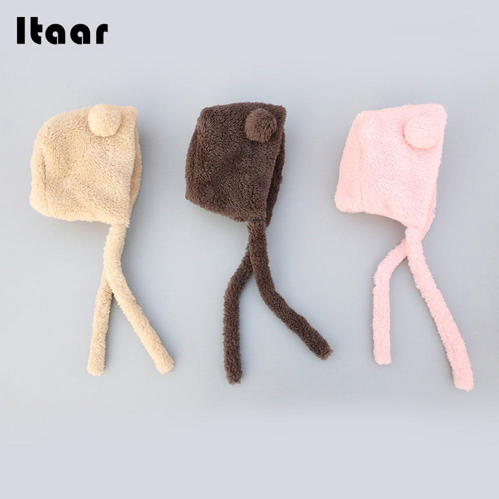 Baby Winter Hat Newborn Baby Hat Beanie Cap Soft Cute Cotton 3 Colors Autumn and Winter Wool Protect Ears Plush Hairball