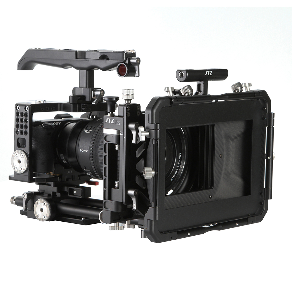 JTZ DP30 Camera Cage Baseplate Rig Grip KIT For SONY Alpha A6000 A6300 A6500 4K f18637 8 fat cat new aluminum protection boarder protective housing case cage kit special for sony a6000 a6300 camera kit mount