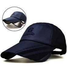 Chapéu de sol Para Homens Verão Vazio Top Pesca Retrátil Viseira de Proteção  Chapéus de Sol Tampão da pesca Boné de beisebol Fem. ec228b04b8d