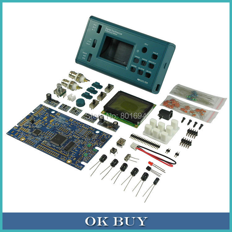 Pocket-sized Digital Oscilloscope  E-learning / Competition DIY Kit Parts DSO 068 Frequency Meter Analog 3M new 1pcs dso138 2 4 tft digital oscilloscope kit diy parts 1msps with probe