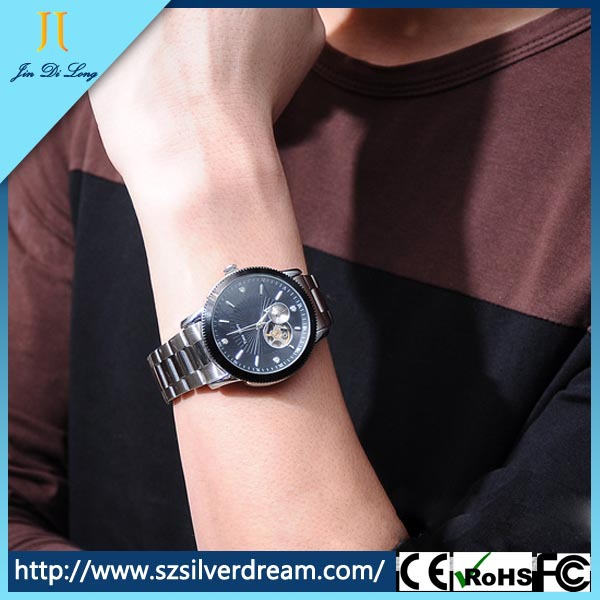 Wholesale Waterproof Skeleton Automatic Mechanical Men Wristwatches Steel Strap Famous Brand High Quality Self-Wind Men's Watch high quality lowest price wholesale kz 19 pneumatic combination steel metal strapping packing machine for 19mm steel strap tape