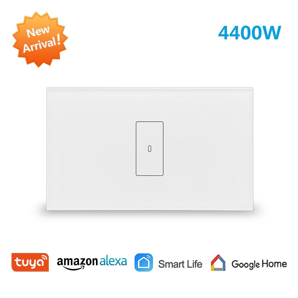 Tuya WiFi датчик расхода воды переключатель Новый 4400 Вт, приложение таймер Sechdule ON OFF, голосовое управление Google Home, Alexa Echo Dot