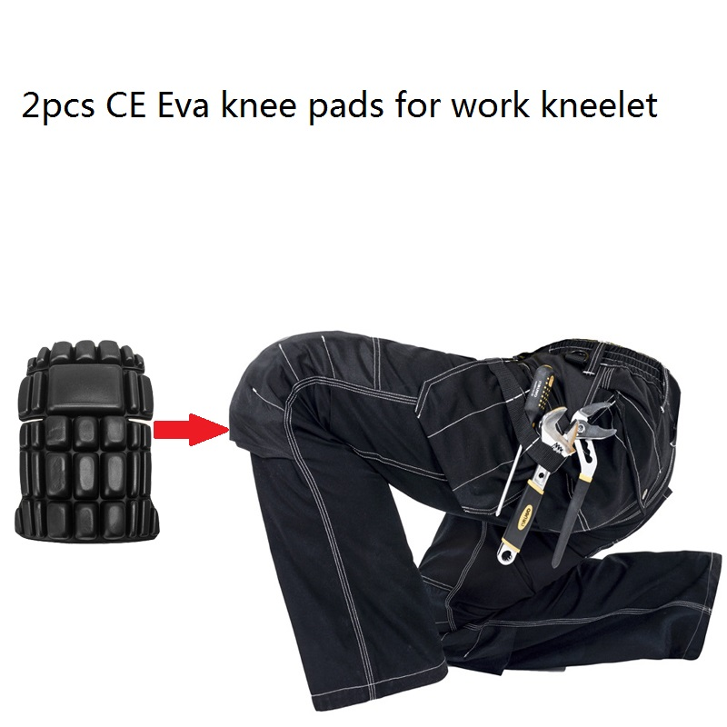 New 2 Pcs CE Eva Knee Pads For Work Kneelet For Professional Working Pants Knee Protective Removable Kneepads Safety Accessories