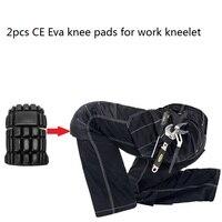 Nuevas rodilleras 2 uds Ce Eva para trabajo rodillera para pantalones profesionales de trabajo rodilleras protectoras de rodilla accesorios de seguridad