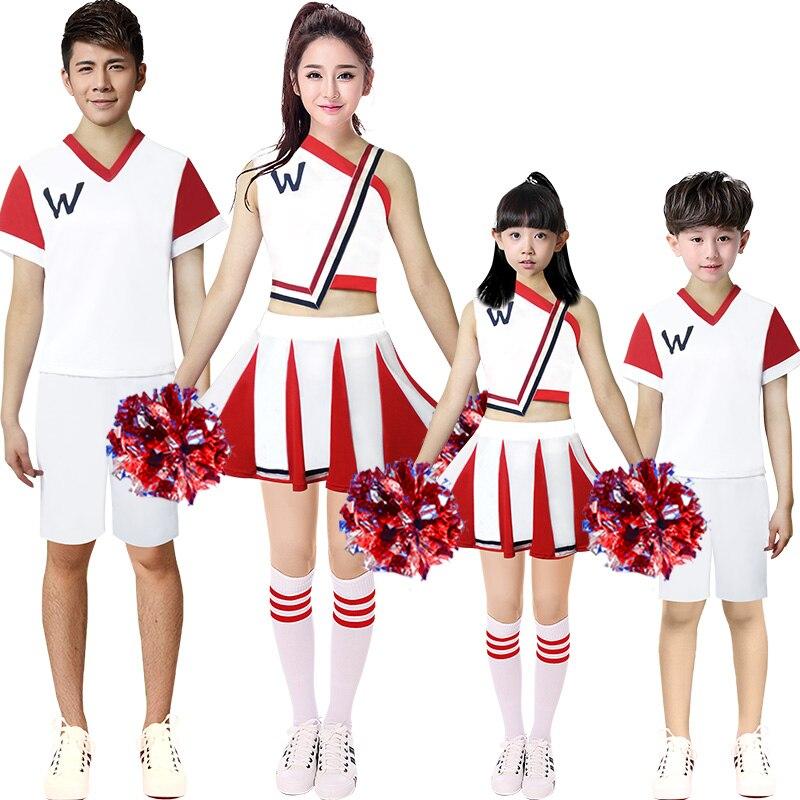 מעודדת תלבושות נשים תלבושות סט שתי חתיכה של ילדי תחפושת מעודדת מעודדות תחפושת מעודדת