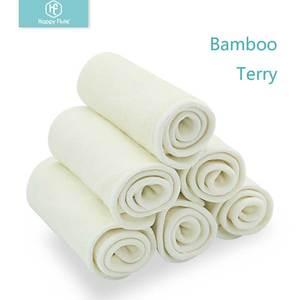 Image 3 - HappyFlute 10 Pcs ไม้ไผ่แทรกล้างทำความสะอาดได้ Breathable แทรก Boosters Liners สำหรับผ้าอ้อมเด็กทารกผ้าอ้อม