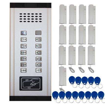 SMTVDP New Arrival Audio Door Phone Intercom System 13-apartments Audio Doorbell,New Design Indoor Unit ID Card Unlock Function
