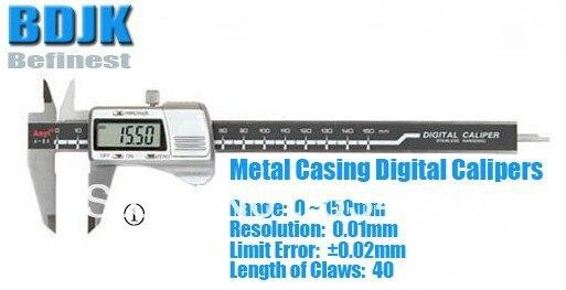 0~150mm Metal Casing Digital Caliper / Caliper / Measuring Tool / Instrument with 0.02mm Limit Error 0 300mm high precision digital vernier caliper measuring tool instrument with 0 025mm limit error