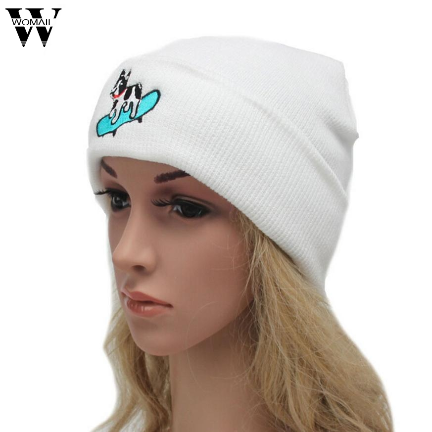Hot Beanies Women Beanie Knit Ski Cap Hip-Hop Winter Warm Unisex Wool Hat Casquette Femme Oc19