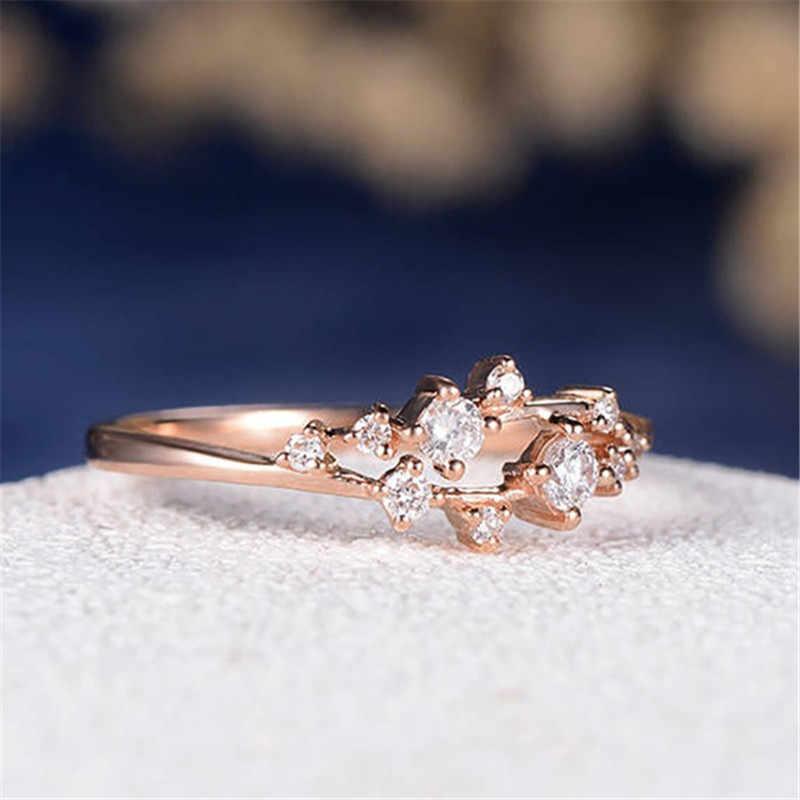 RscvonM המרקיזה חמוד אירוסין טבעת לנשים שלוש אבן אשכול כלה טבעות חתונה מעדן תכשיטי נקבה אצבע טבעות