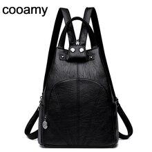 206e1f18a Moda mujer mochila PU cuero mujeres bolsas de viaje de alta calidad mochila  elegante Mochilas Escolar Feminina