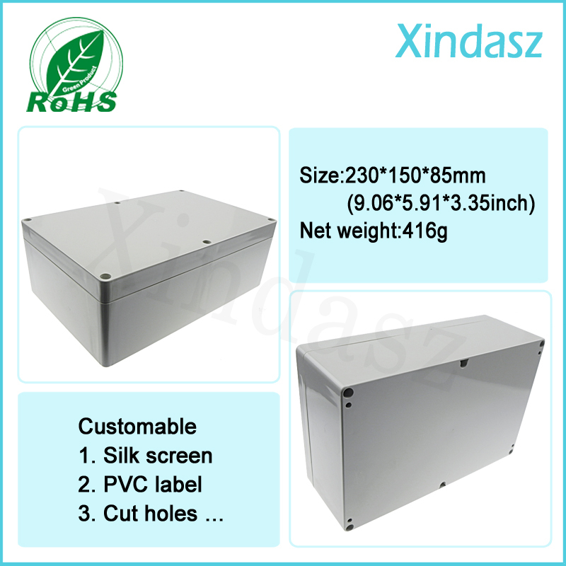 <font><b>230*150*85mm</b></font> plastic project box enclosure outdoor waterproof junction box enclosures image