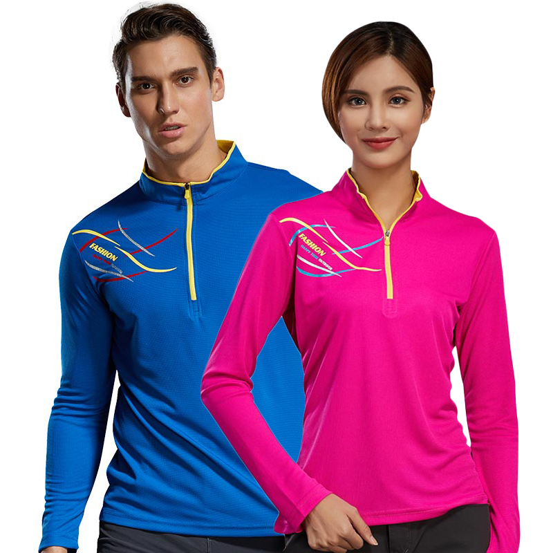LoClimb Lovers Anti-Uv Hiking T-Shirt Men Women Quick Dry Fitness Jersey Outdoor Trekking Sport T Shirt Fishing Clothing,AM245