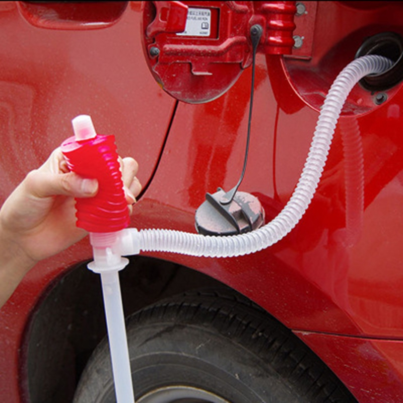 Useful Car pumping suction tube Manual Pumping Oil Pump 1pc Liquid Plastic Suction Pipe fish tank changing water suction device