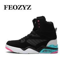 LEOCI NEW High Top Basketball Shoes Men Air Sole Dampping Mens Basketball Sneakers Zapatillas De Basquet Basket Homme Size 39-44