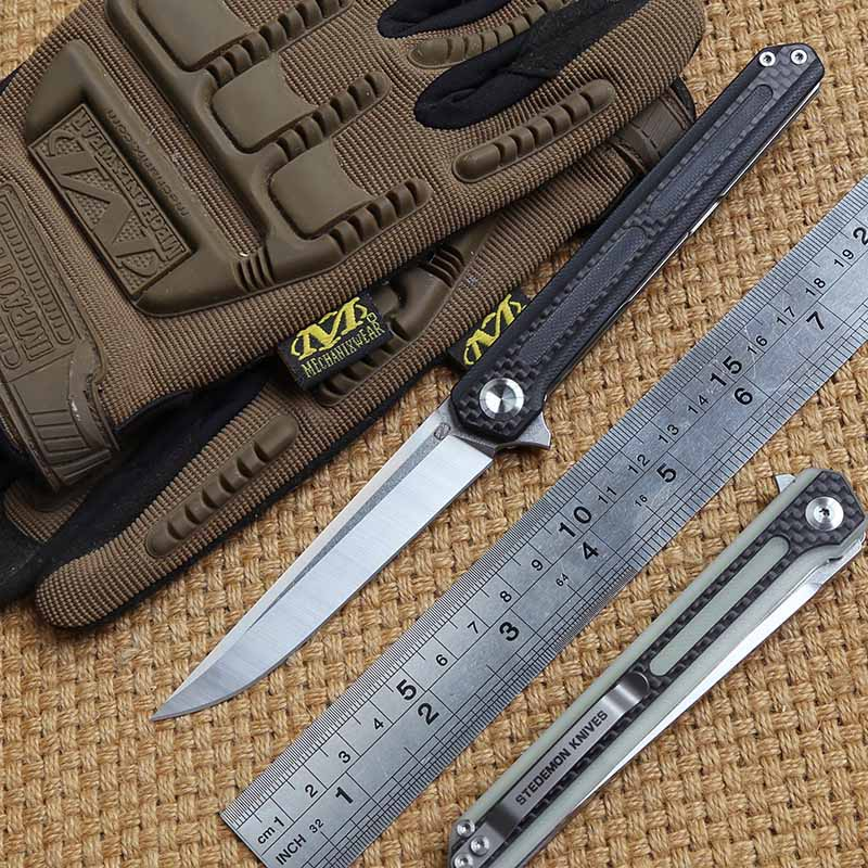 STEDEMON C06 tactics folding knife 440C blade KVT ball bearing G10 handle camping hunting outdoor Survival