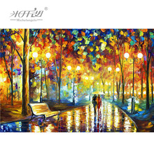Michelangelo Wooden Jigsaw Puzzles 500 1000 Pieces With You All the Way Cartoon Educational Toy Decorative Painting Home Decor