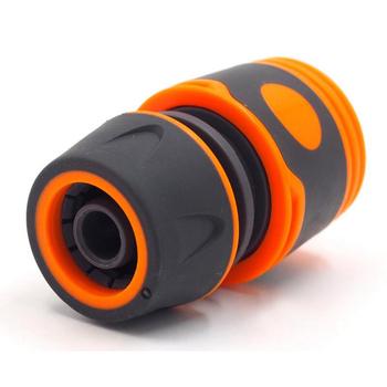 Ogród posypać 1 2 #8222 lub 3 4 #8221 rura łącząca wąż wody adapter Tap złączka rurowa do węża zestaw szybkie złącze z gumowym materiałem tanie i dobre opinie VanKood Miękki uchwyt Garden Hose Connector Ogród pistolety wodne Plastic+Rubber 2 types optional(1 2 or 3 4 )