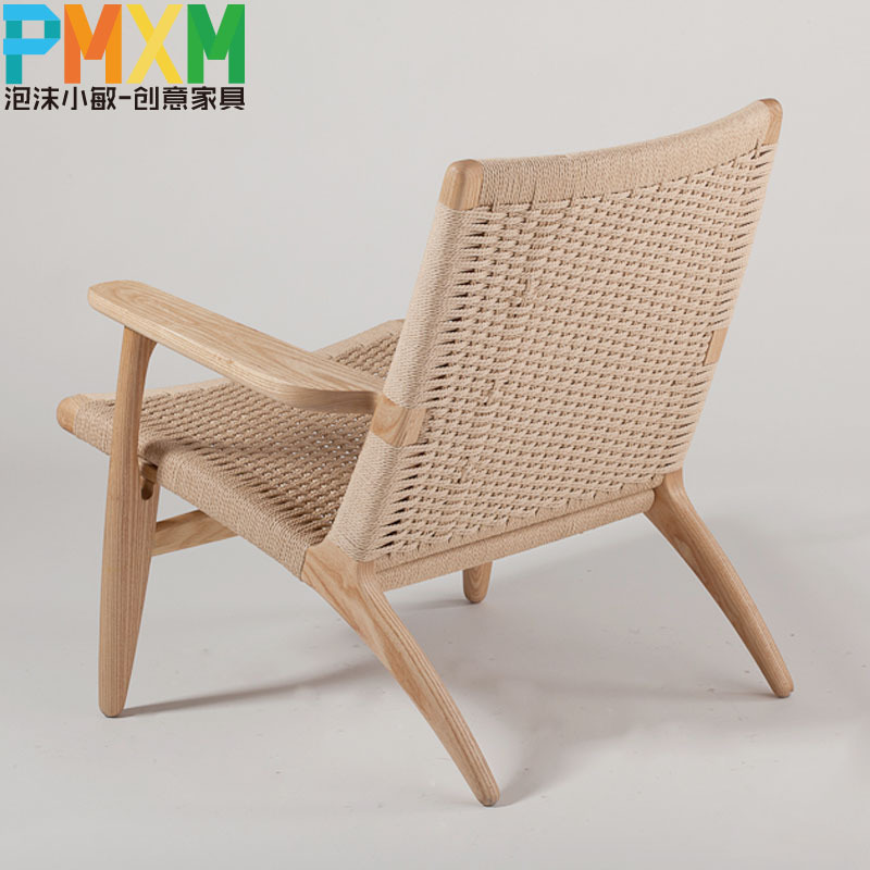 Well known Upscale casual recliner chair simple and stylish handmade woven  VO01