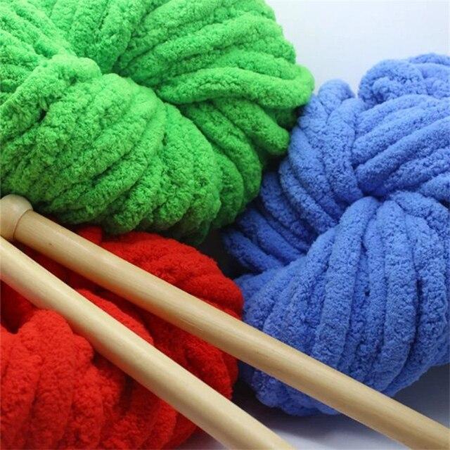 Caliente chenille lana chunky Hilado para la mano de tejer ganchillo ...