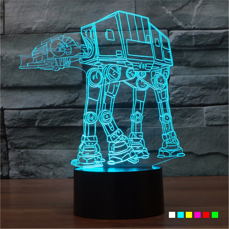 AGM Star Wars Troop Dog LED 3D Lamp Table Touch Night Lights Luminaria Desk 7 Colors Changing Sleeping NightLights For Kids Gift