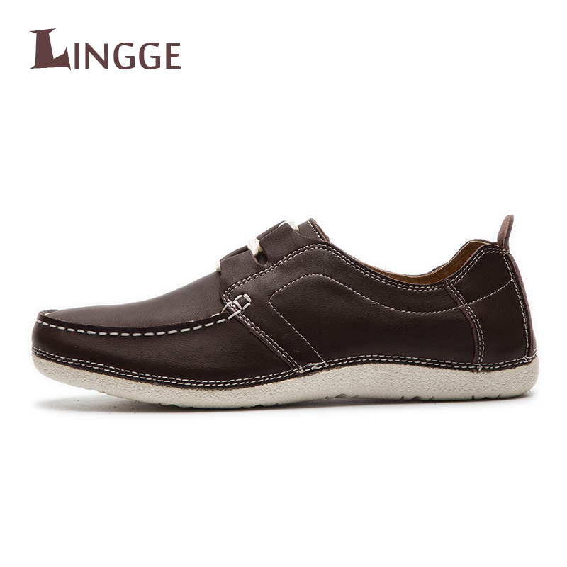 Brand Casual High Quality Men Genuine Leather Loafer Driving Shoes Fahion Boat Shoes Mens Handmade Short Vintage Flats Moccasins