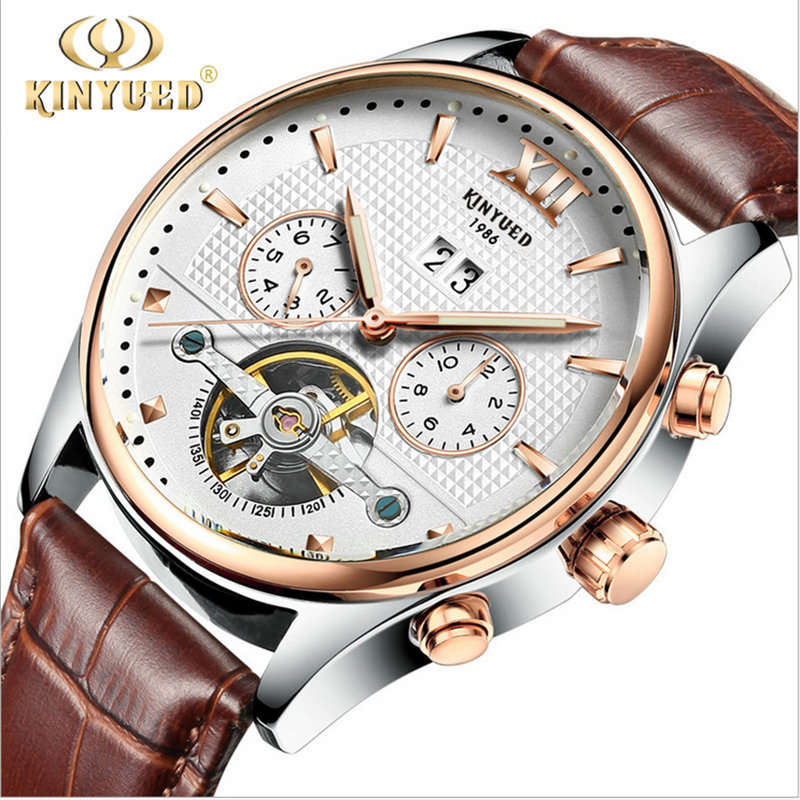 KID brand watches Luxury Automatic Mechanical Men Sub dial function 24 hours Date Display Genuine Leather Skeleton relojes Watch ik brand luxury automatic mechanical watches men sub dial function date 24 hours display genuine leather skeleton watch relojes