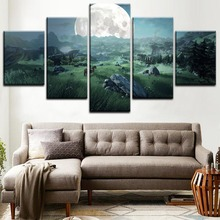 The Legend of Zelda Game Wall Art For Decor 5 Pieces Paintings on Canvas for Living Room Modern Home