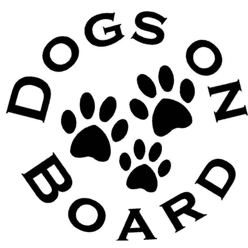 Dogs On Board Cute And Interesting Fashion Personality Car Bumper Sticker Decal Vinyl Dog Paw ...