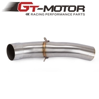 GT Motor Motorcycle Exhaust middle pipe for HONDA CBR400 CBR00R 13 15 CB400X CB500X 2013 2016 without exhaust Slip On