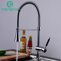 Nieneng Pull Out Frap Brass Kitchen Faucet Mixer Cold And Hot Kitchen Tap Single Hole Water