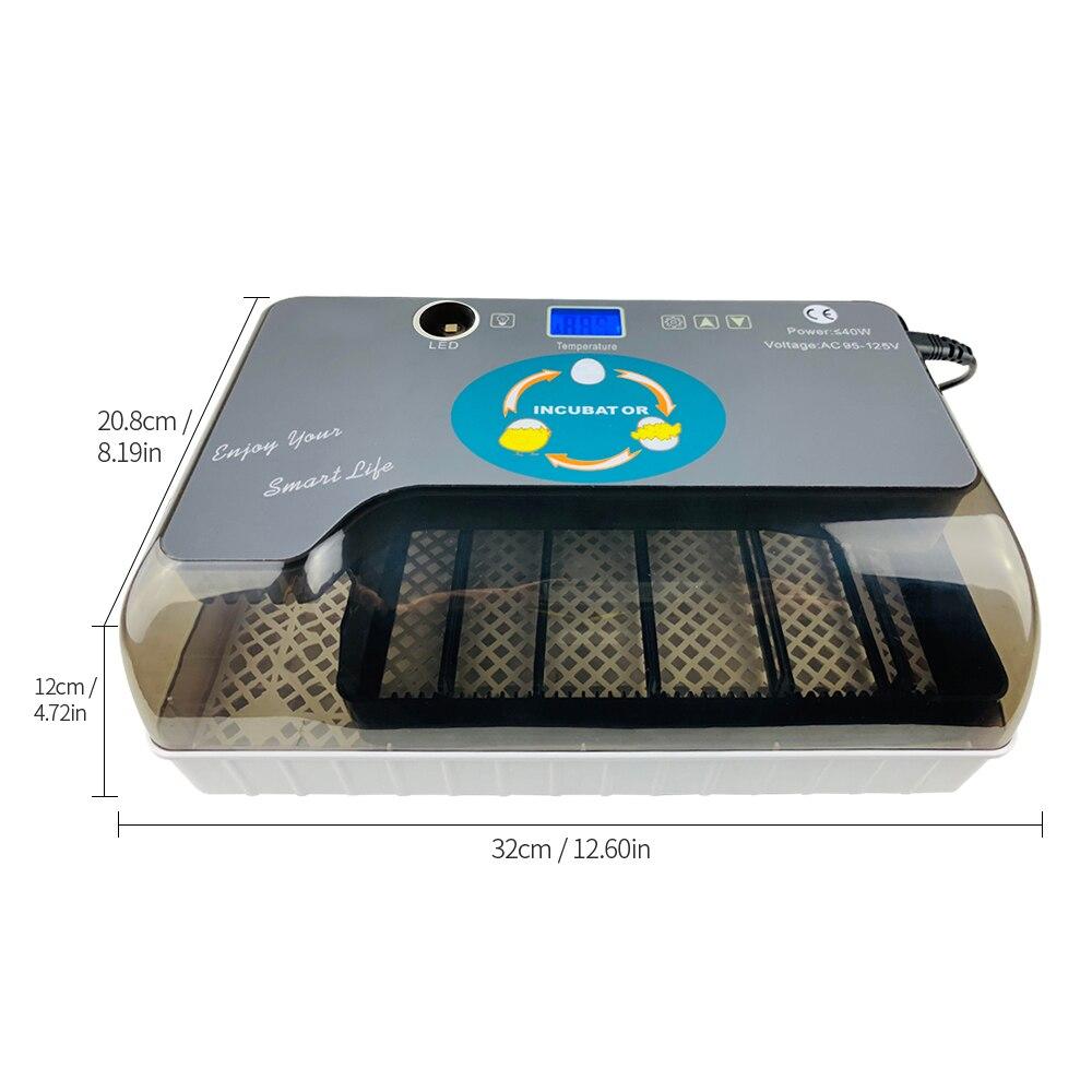 Cyfrowa jajko inkubator automatyczne jaj Hatcher z Eggtester automatyczne toczenie jaj 12 jaj drobiu Hatcher 1.4 wyświetlacz ekran w Produkty do nawożenia i nawadniania od Dom i ogród na  Grupa 3