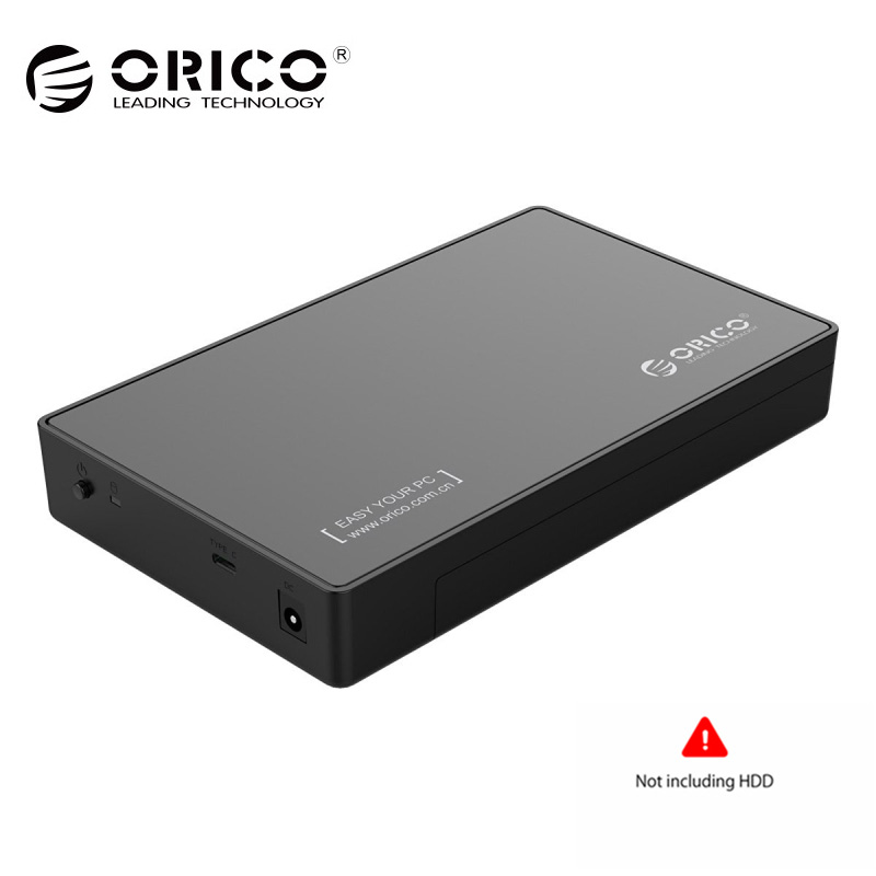 ORICO 3,5 HDD Caddy caso USB 3,1 Gen 1 Tipo C a SATA HDD externo caja hasta 8 TB UASP apoyo herramienta libre para SATA HDD/SSD