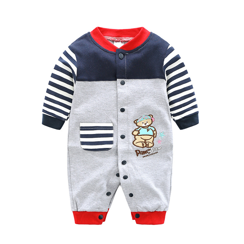 New Arrival Newborn Baby Boy Clothes Long Sleeve Baby Boys Girl Romper Cotton Infant Baby Rompers Jumpsuits Baby Clothing Set цена