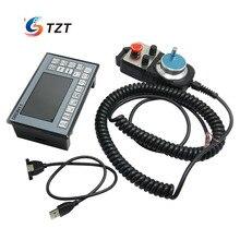 4-Axis MPG Pendant Handwheel & Emergency Stop + CNC 4-Axis Motion Controller 500KHz Stepper Motor Driver DDCSV1.1