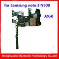 32 gb original sistema de placa base placa base para samsung note 3 n900 instalar android versión europea buena placa lógica de trabajo