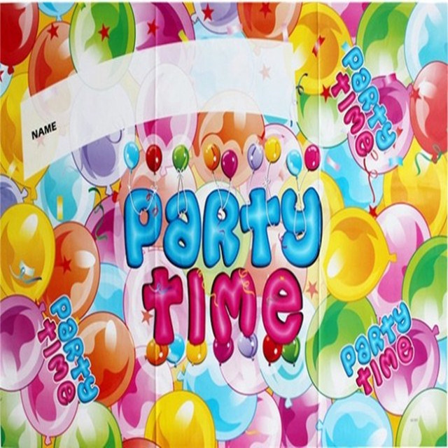 Childrens Birthday Parties Arranged Poster Wallpaper Theme Party Dress Baby Celebration Variety