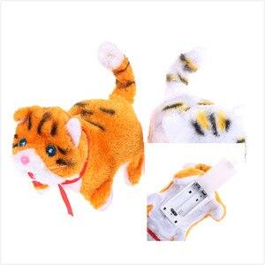 Музыкальный интерактивный робот-кошка на новый год, рождественские игрушки для детей, подарок, электронная кошка, лай для прогулок