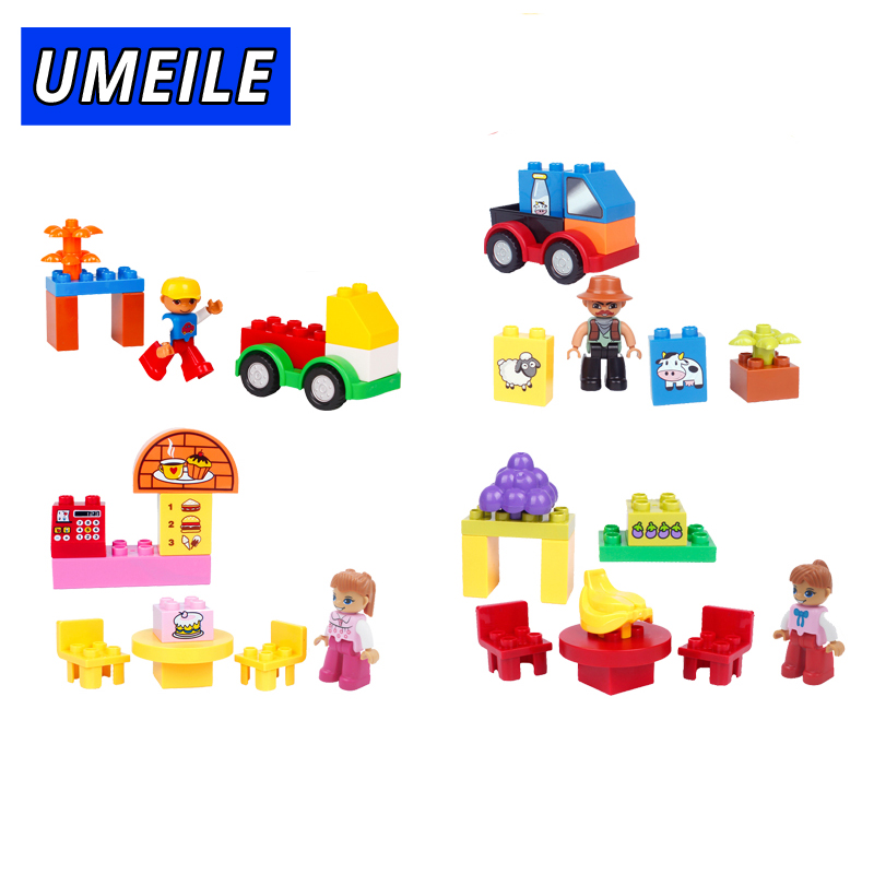 UMEILE 12 Style With Box Original Classic Block City Girl Friends Figure Princess Toys Compatible with Duplo Birthday Present