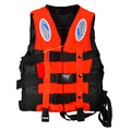 Durable Polyester Adult Life Jacket Universal Swimming Boating Ski Drifting Vest With Whistle Prevention S-XXXL Sizes